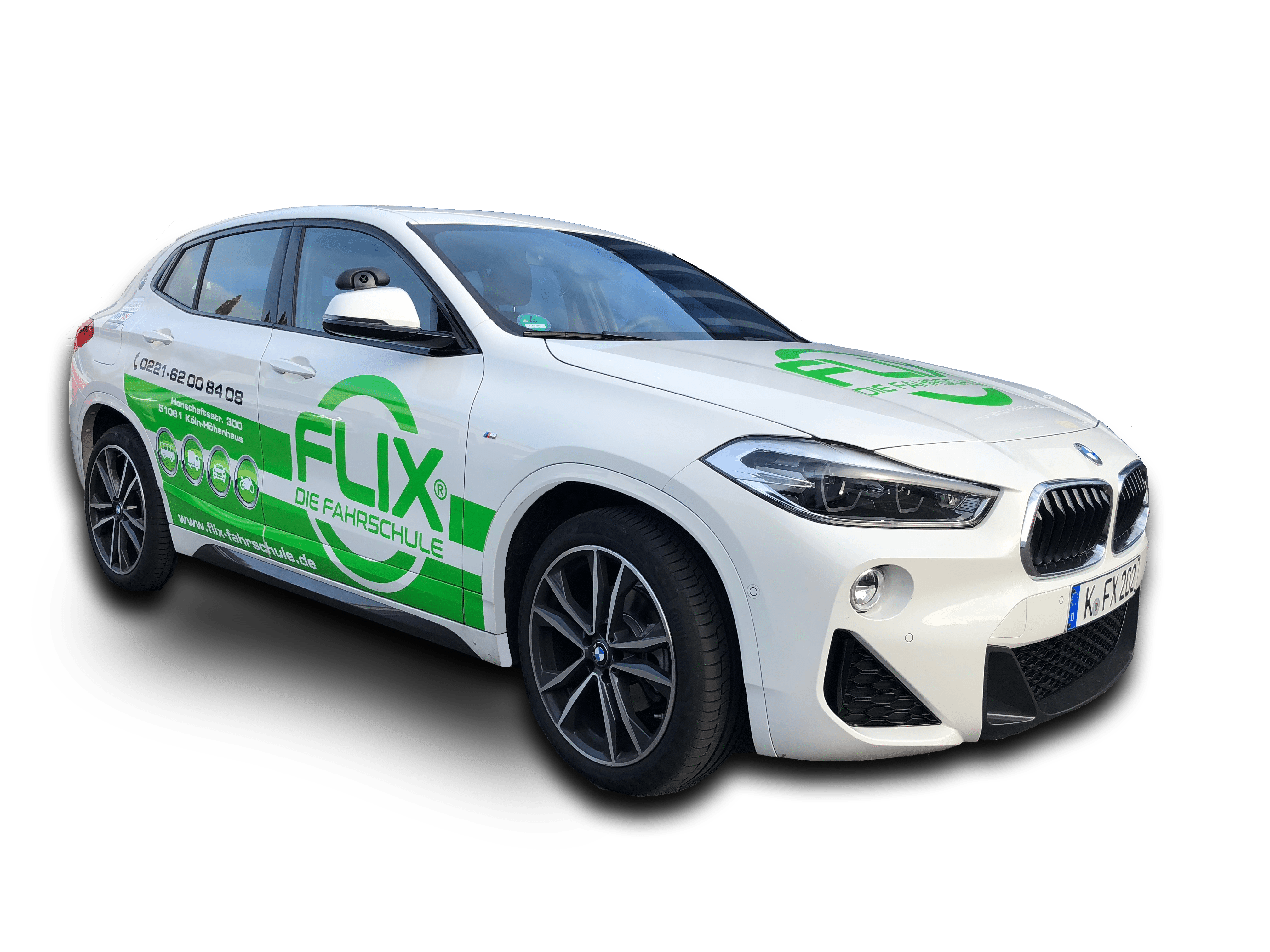BMW X2 Flix die Fahrschule neu