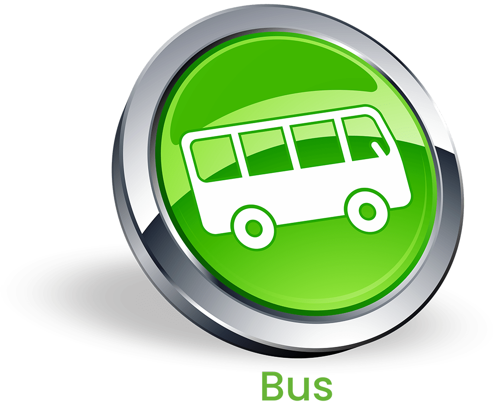 Bus Button mit Schrift