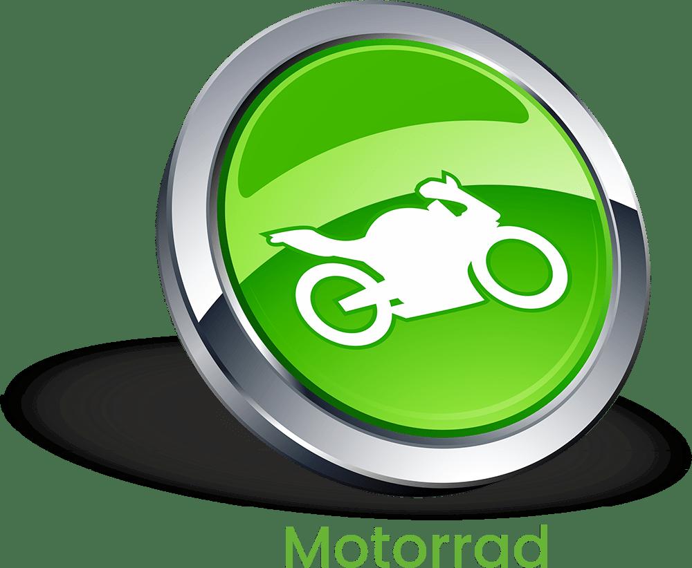 Motorrad Button mit Schrift