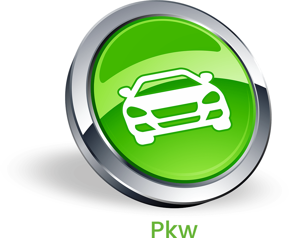 PKW Button mit Schrift