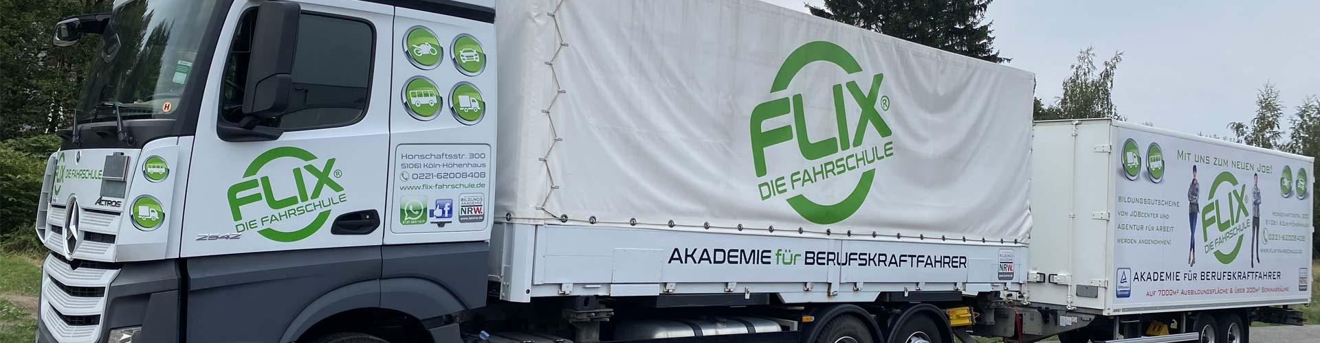 Flix die Fahrschule, Flix Fahrschule, Übungsfläche für LKW, Übungsfläche für Busse, Übungsfläche für Berufskraftfahrer