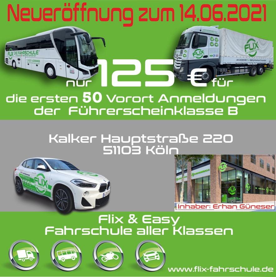 FLIX die Fahrschule - Neueröffnung in Köln-Kalk